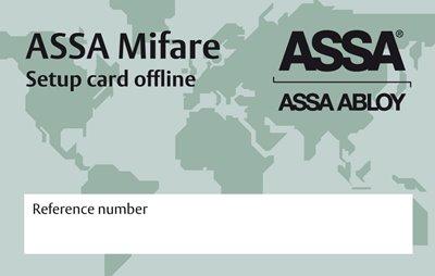 Key setup card offline