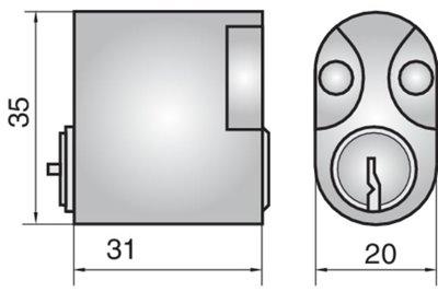 P603 - Single Cylinder (Inside)