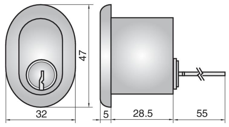 P607 - Single Rim Cylinder (Outside)