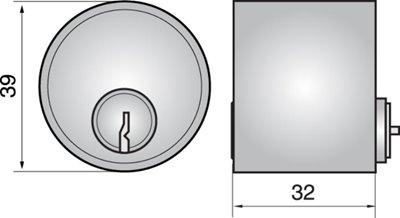 P611 - Single Cylinder (Outside)