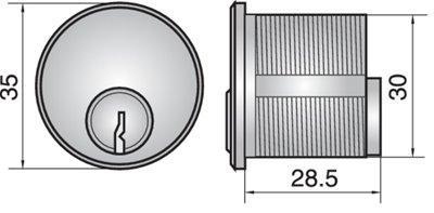 4451 - Single mortice cylinder