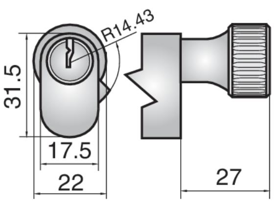 4434 - Single cylinder with small round turn