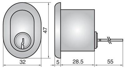 2407 - Single rim cylinder (outside)
