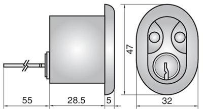 2409 - Single rim cylinder (inside)
