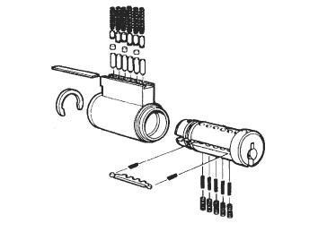 4465-1 - Key in knob Corbin HD