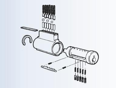4467-1 - Key in knob Sargent integra