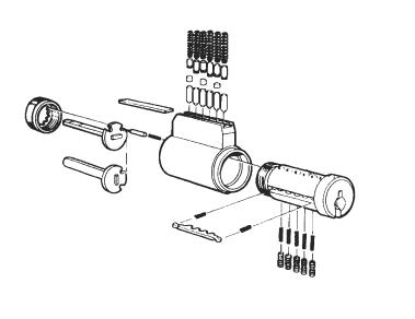 4461-1 - Key in knob Schlage Std, HD
