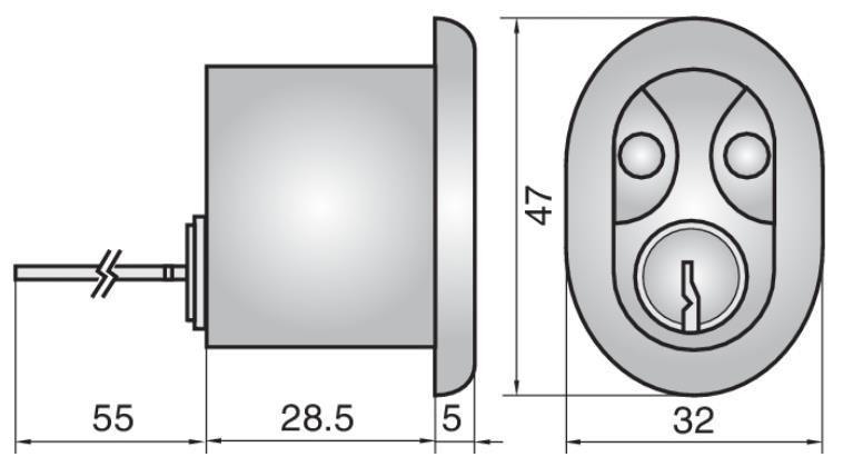 P609 - Single Rim Cylinder (Inside)