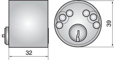 P613 - Single Cylinder (Inside)